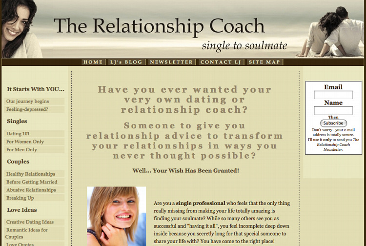 Email dating website